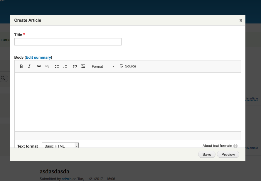Display Forms in a Modal Dialog with Drupal 8