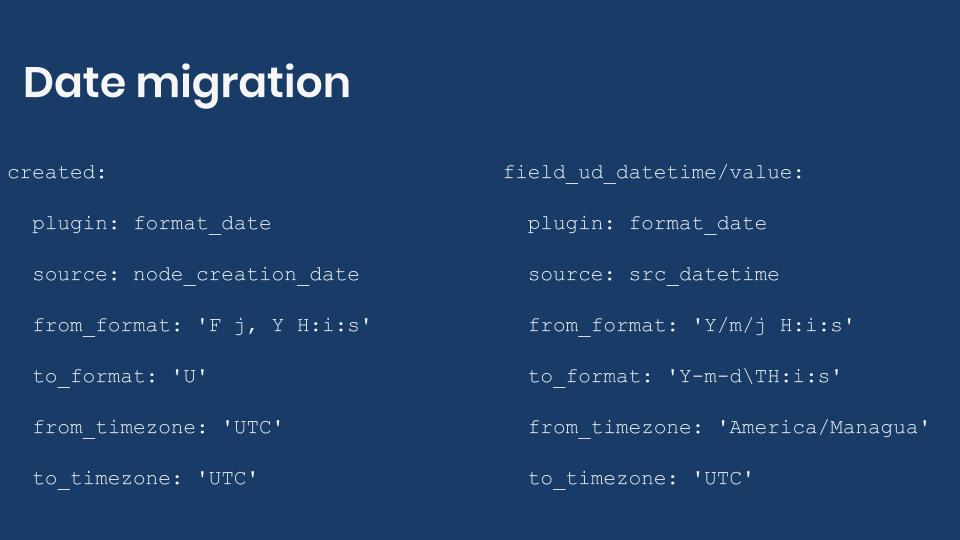 Migrating dates into Drupal