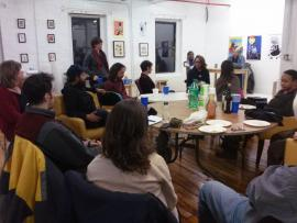 People at the the Worker-Owned and Run Cooperative Network of Greater Boston meetup.