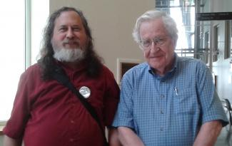 Richard Stallman and Noam Chomsky