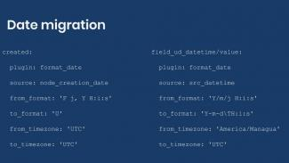 Example syntax for date migrations.