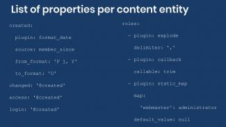 Example migrations mapping of content entity properties