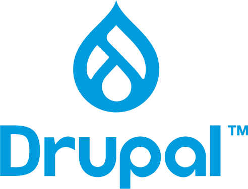 Drupal logo and wordmark.